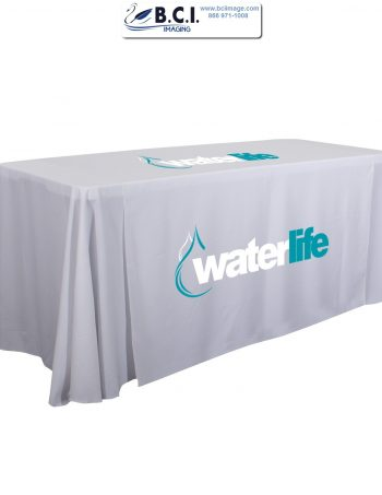 6 Feet Standard Table Throw (Full-Color Imprint, Two Locations)
