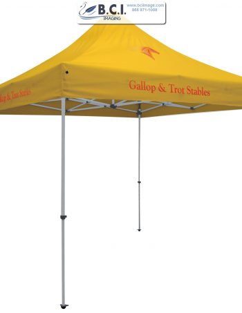 24-Hour Quick Ship Standard 10' Tent (Full-Color Imprint, Three Locations)