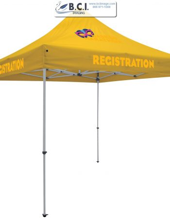 24-Hour Quick Ship Deluxe 10' Tent (Full-Color Imprint, Three Locations)