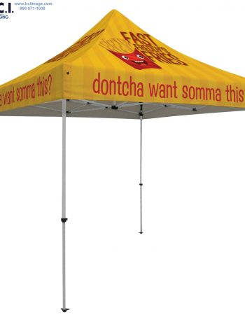 48-Hour Quick Ship Deluxe 10' Tent (Full-Bleed Dye Sublimation)