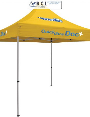 24-Hour Quick Ship Premium Aluminum 10' Tent (Full-Color Imprint, Three Locations)