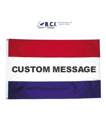 Stock Message Nylon Flag (Single-Sided) - 3' x 5'