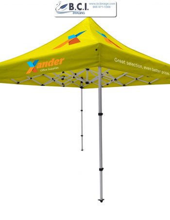 Compact 10' Tent Kit (Full-Color Imprint, Five Locations)